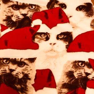 Lularoe Cat Santa Hat Leggings